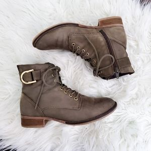Aldo leather ankle booties